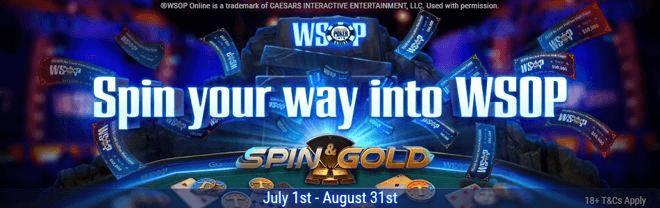 Выиграйте билеты на WSOP через Spin & Gold